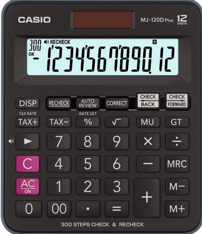 CASIO 12 Digit Desktop Calculator (MJ-120DPLUS)