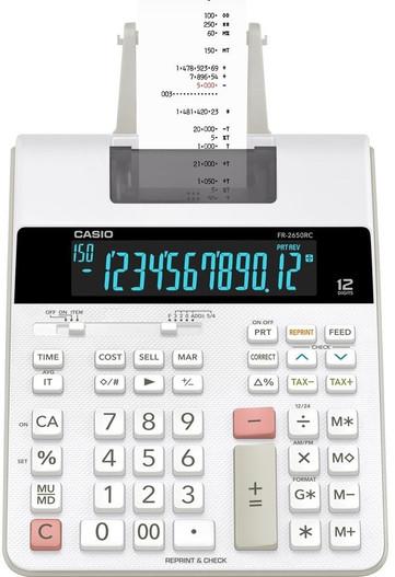 CASIO 12 Digit Printing Calculator (FR-2650RC)