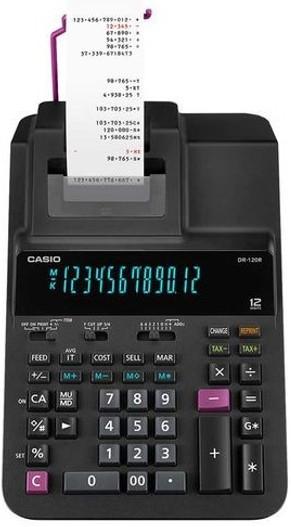 CASIO 12 Digit Printing Calculator (DR-120R)