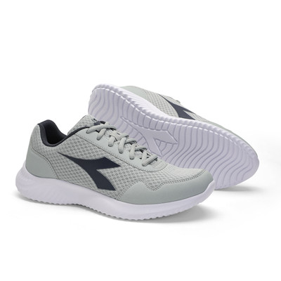 DIADORA Mens Robin 2 Running Shoes - Silver/Classic Navy (176967)