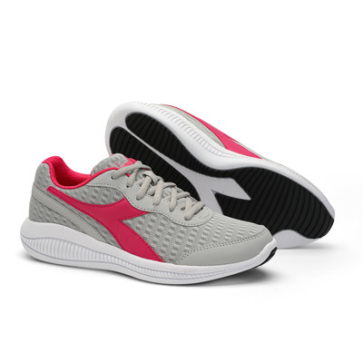 DIADORA Womens Eagle 4 Running Shoes - Silver/Pink (176894)