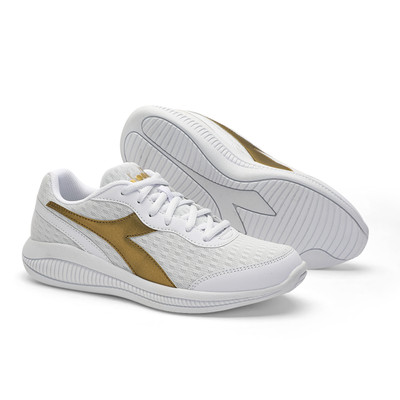DIADORA Womens Eagle 4 Running Shoes - White/Gold (176894)
