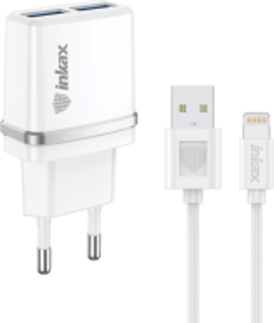 INKAX Charger with Lightning USB Cable (CD-11-IP)