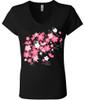 Ladies Tee - New Blossom V- neck
