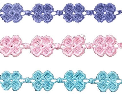 Youth Embroidered Cherry Blossom Bracelets