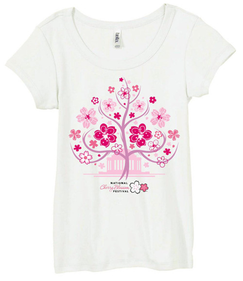 Ladies Cherry Tree Fitted T-Shirt