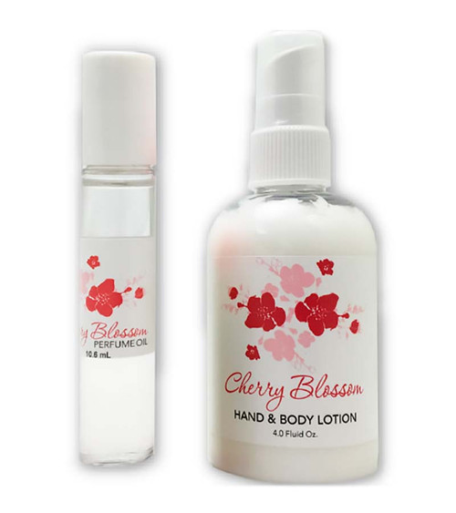 CHERRY BLOSSOM PERFUME OIL & LOTION SET