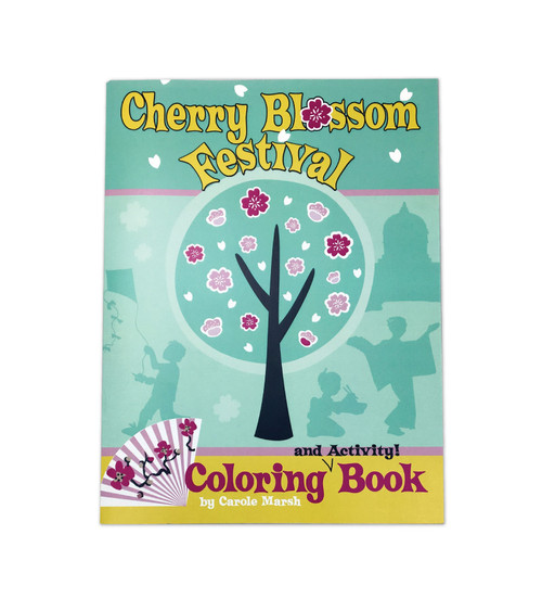 Cherry Blossom Festival Coloring & Activity Book