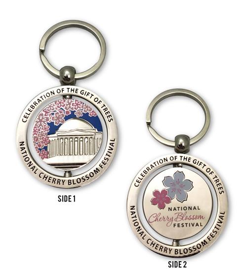 National Cherry Blossom Festival Spinner Key Chain