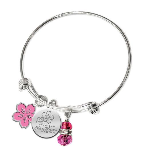 National Cherry Blossom Festival Bangle Bracelet