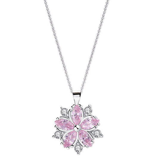 Crystal Cherry Blossom Necklace