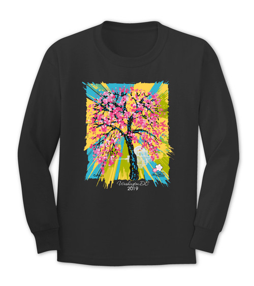 2019 Official National Cherry Blossom Long Sleeve Tee