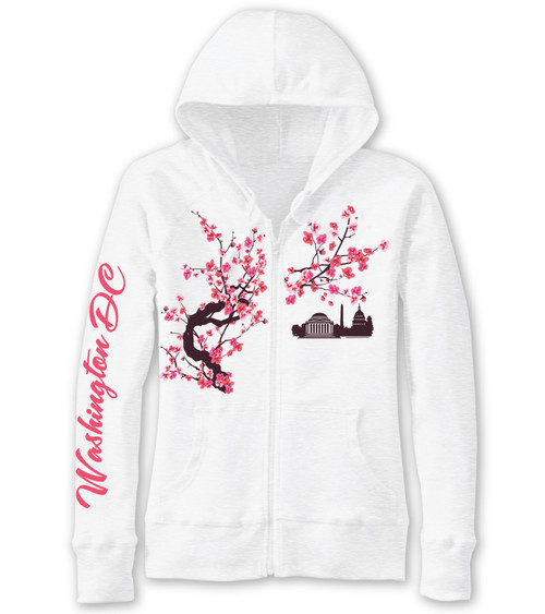 Cherry Blossom Tea Ladies Slub Full Zip