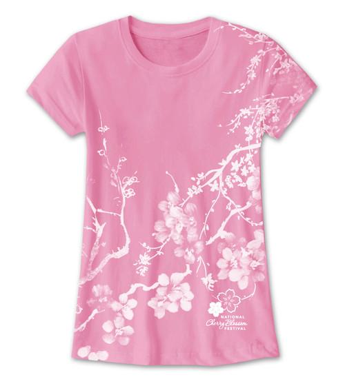 Cherry Blossom Kimono All Over Print Ladies Tee