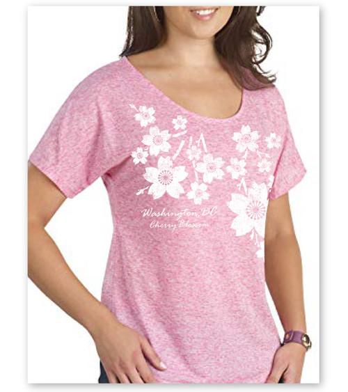 Trickle Cherry Blossom Ladies Dolman