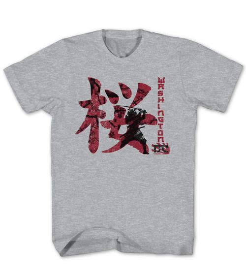 Cherry Blossom Sakura Samurai Adult Tee