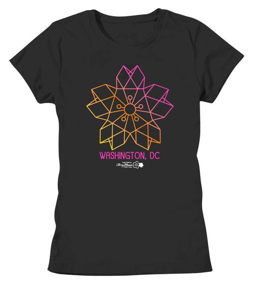 Geometric Cherry Blossom Ladies Tee