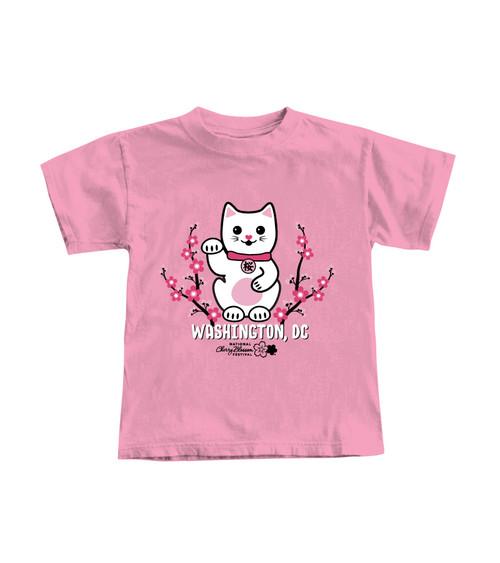 National Cherry Blossom Sakura Cat Youth Tee
