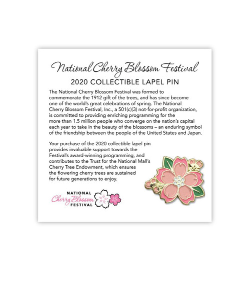 2020 Official National Cherry Blossom Lapel Pin