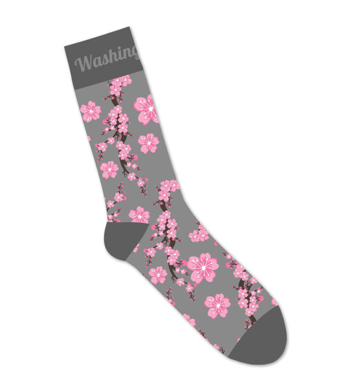 National Cherry Blossom Festival Cherry Blossom Socks Grey