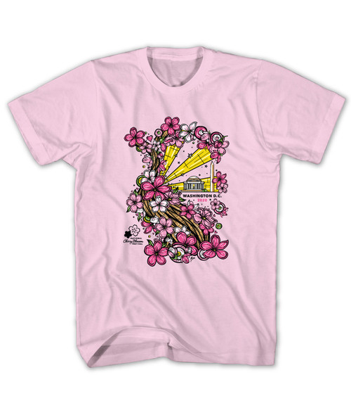 2020 Official National Cherry Blossom Festival Soft Pink Tee
