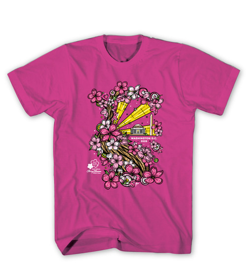 2020 Official National Cherry Blossom Festival Cyber Pink Tee