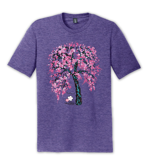 National Cherry Blossom Festival  It's Always Springtime Tri-Blend Purple Frost Tee
