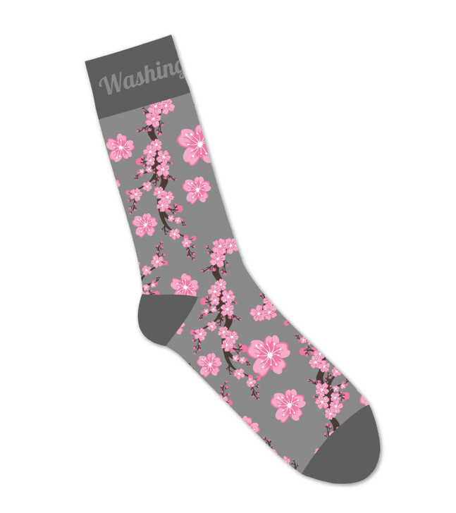 National Cherry Blossom Festival Cherry Blossom Socks Grey