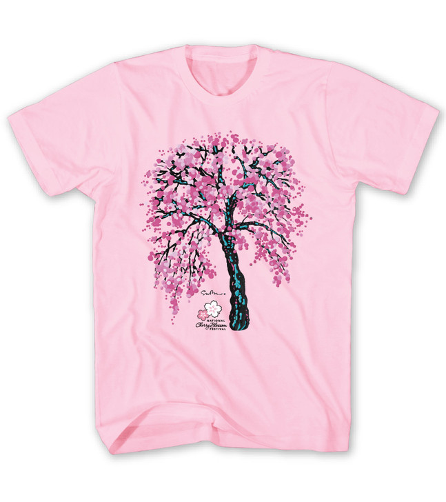 National Cherry Blossom Festival It's Always Springtime Soft Pink Tee