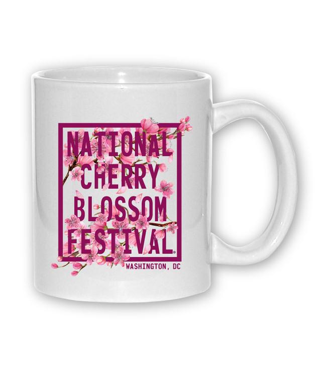 Cherry Blossom Square Sublimation Mug