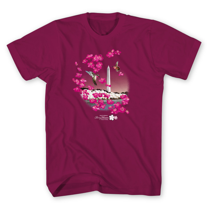 2021 Official National Cherry Blossom Unisex Tee Berry