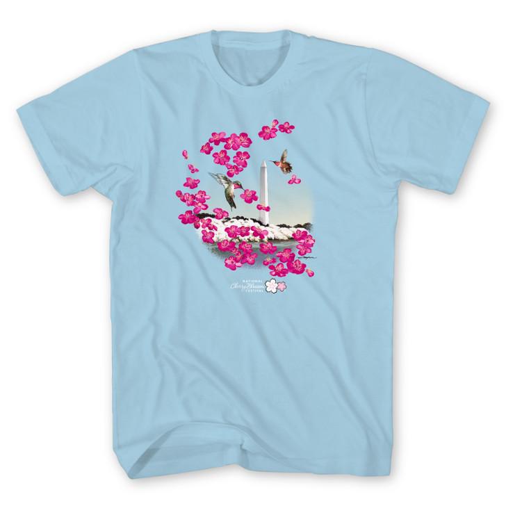 2021 Official National Cherry Blossom Unisex Tee Light Blue