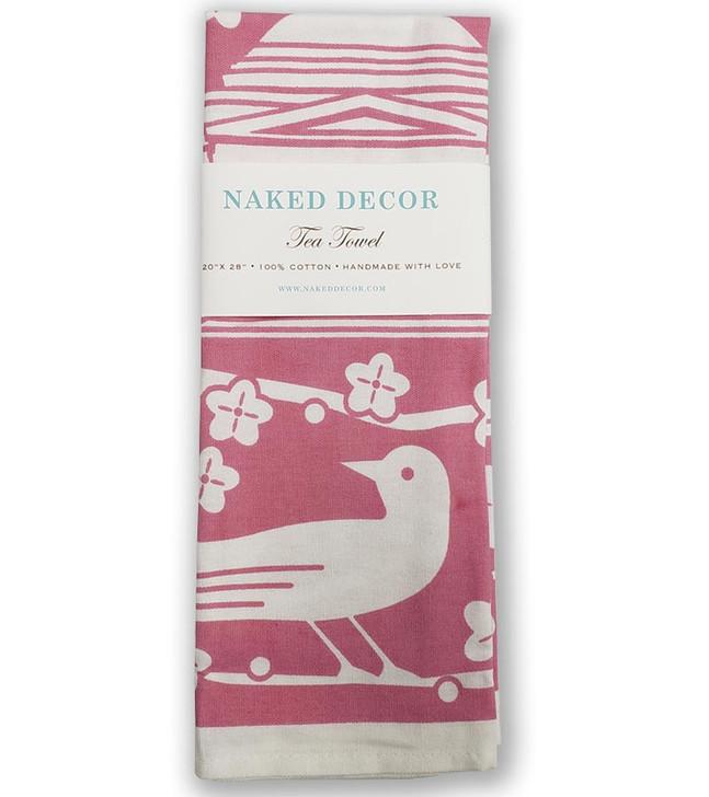 Cherry Blossom Jefferson Memorial Tea Towel