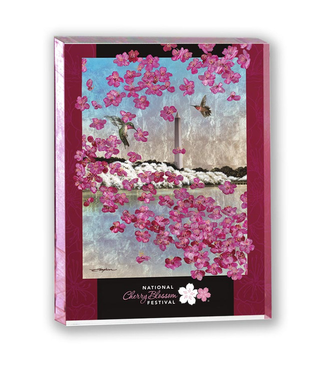 2021 Official National Cherry Blossom Festival Lucite Magnet