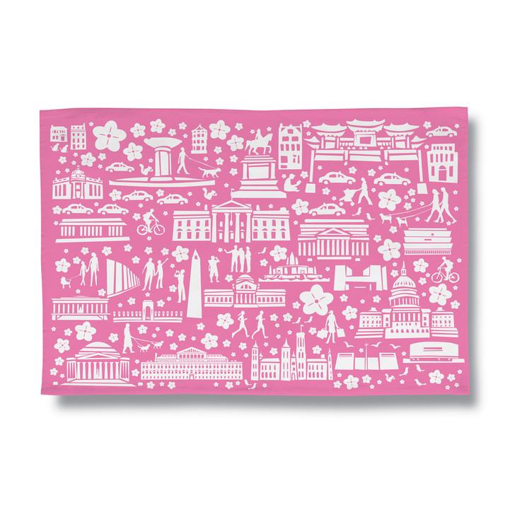 Cherry Blossom Weekend Tea Towel