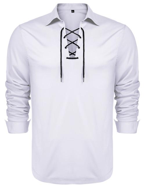 mens shirts long sleeve casual