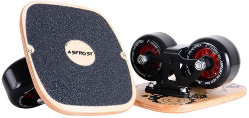 AsFrost Portable Roller Road Drift Skates Plate with Cool Maple Deck Anti-Slip Board Split Skateboard with PU Wheels High-end Bearings