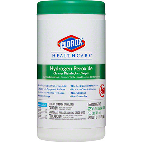 Clorox® Healthcare™ Hydrogen Peroxide Cleaner Disinfecting Wipes, 155 ct Canister