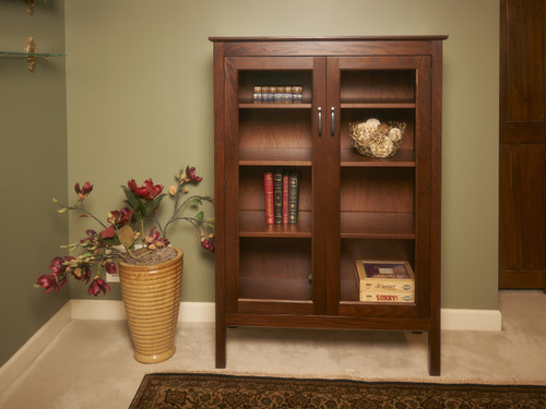 Penn State Elms Collection Glass Display Bookcase II