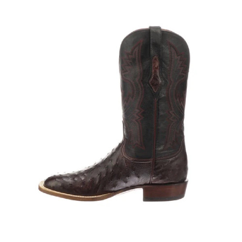 LUCCHESE CLIFF BLACK CHERRY FULL QUILL - BOOT MENS WESTERN - CL1119.W8