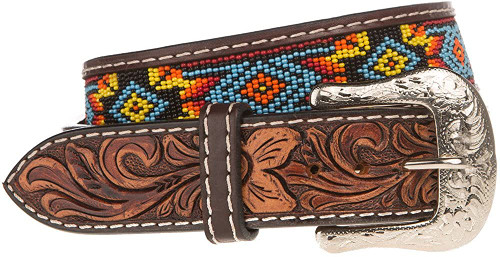 TWISTED X KIDS BEADED BELT - ACCESSORIES BELT KIDS - XIBB100K