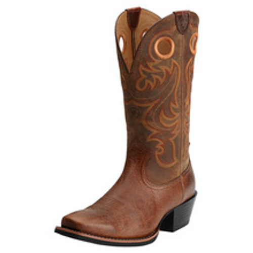 ARIAT SPORT SQUARE TOE WESTERN BROWN - BOOT MENS WESTERN - 10014025
