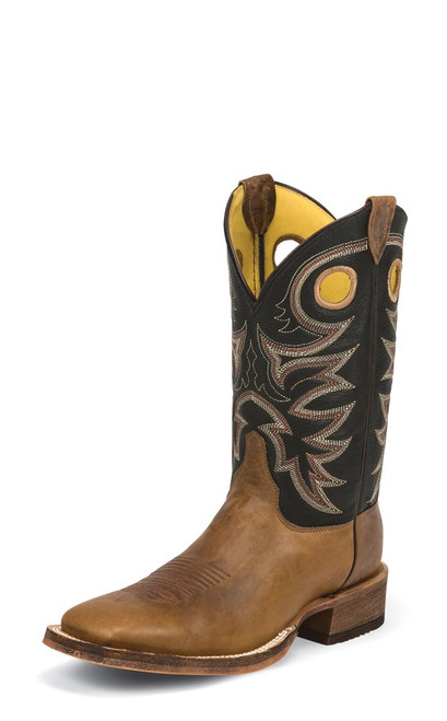 JUSTIN  CADDO BROWN - BOOT MENS WESTERN - BR740