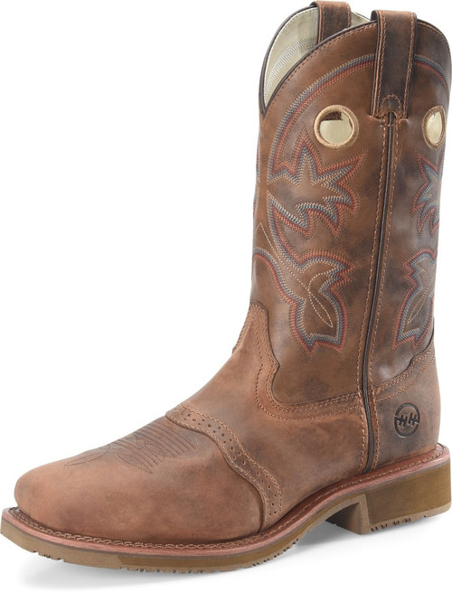 DOUBLE H ANTONIO EARTHQUAKE BROWN BOOT - BOOT MENS WESTERN - DH5134