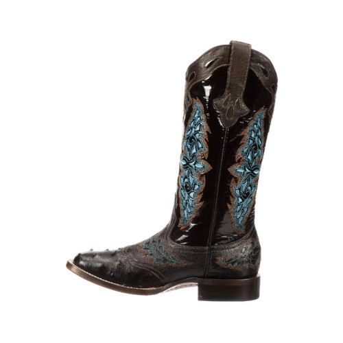 LUCCHESE AMBERLYN CHOCOLATE FULL QUILL - BOOT LADIES   - M4883.WF