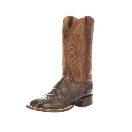 LUCCHESE ROY GATOR CHOCOLATE COGNAC - BOOT MENS WESTERN - CL1072.WF
