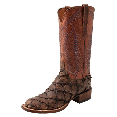 LUCCHESE CHOCOLATE PIRARUCU FISH - BOOT MENS WESTERN - CL1013.W8S