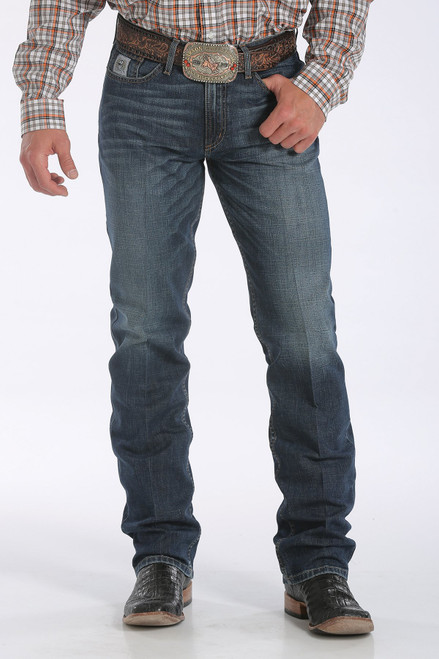 CINCH SILVER LABEL DARK STONEWASH - MENS JEANS   - MB98034006