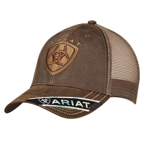 ARIAT BROWN OILSKIN KHAKI - HATS CAP   - 1515602