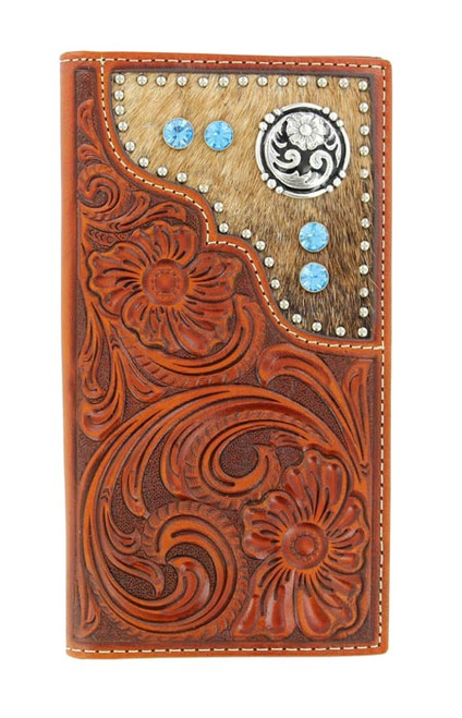 NOCONA CALF HAIR RODEO TOOLED BLUE - ACCESSORIES WALLET   - N5426208